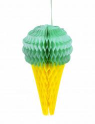 Décoration glace alvéolée menthe 20 cm