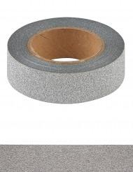 Washi tape glitter argenté 10 m