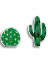 2 Broches cactus