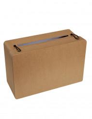 Tirelire en carton valise Kraft 24 x 16 x 10 cm