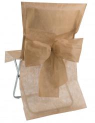 10 Housses de chaise Premium taupe
