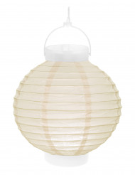 lanterne lumineuse ivoire 20 cm