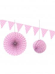 Kit de décorations rose