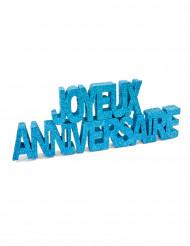 Deco table Joyeux anniversaire turquoise