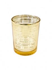 Photophore en verre doré