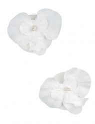 2 Orchidées flottantes blanches 6 x 8 cm