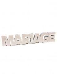 Lettres Mariage en bois blanchi 30 x 6 cm