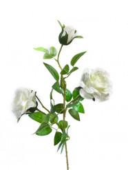 Fleur artificielle branche de roses 75 cm
