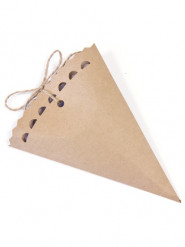 6 Contenants en carton kraft 15 cm