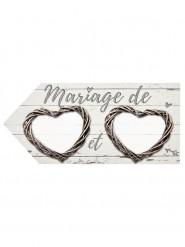 Flèche mariage romantique