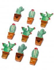 9 Stickers en papier cactus