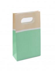 6 Sacs en papier sorbet menthe 17,5 cm