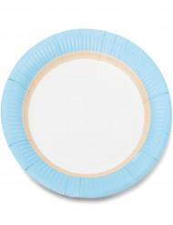 12 Assiettes en carton sorbet ice 23cm