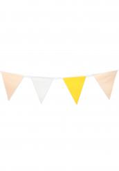 Guirlande à fanions en papier sorbet citron 3m