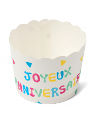 25 Pots à cupcake anniversaire Tutti Frutti 6 cm