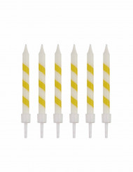 10 Bougies d'anniversaire sorbet citron