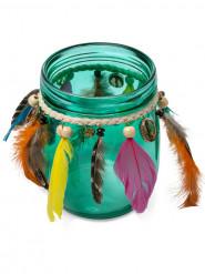 Photophore en verre émeraude Gypsy 12 cm