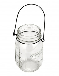 Vase en verre Mason jar 13 cm
