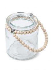 Photophore perle bois 9 cm