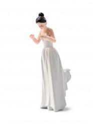 Figurine mariée portée brune