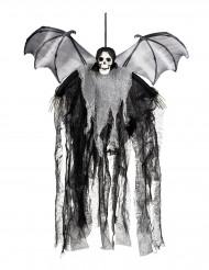 Décoration à suspendre faucheuse chauve-souris 60 cm Halloween