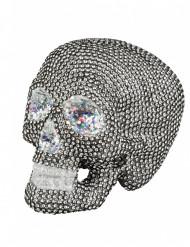 Décoration squelette à strass 19 x 15 cm Halloween