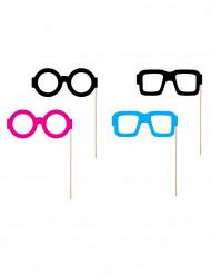 Kit photobooth lunettes 4 pièces