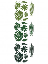 21 Feuilles tropicales en papier Hawaï