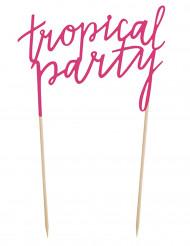 Décoration pour gâteau Tropical Party