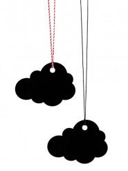 6 Marque-places nuage noir
