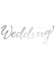 Guirlande Wedding argent 45 x 12 cm