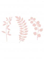 9 Décorations de table feuilles roses 16 cm