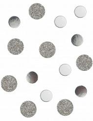Confettis de table en carton argentés pailletés 2 cm