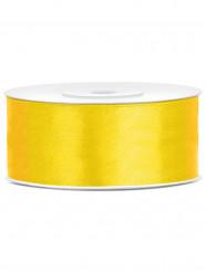 Ruban satin jaune 2,5 cm x 25 m
