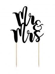 Décoration pour gâteau Mr & Mrs