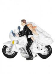 Figurine mariés à Moto 11,5 cm