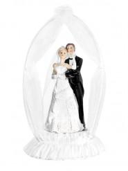 Figurine mariés avec socle et arche 19 cm