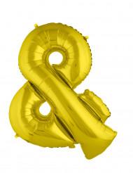 Ballon aluminium géant symbole & doré 80 cm