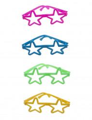 4 Mini paires de lunettes colorées