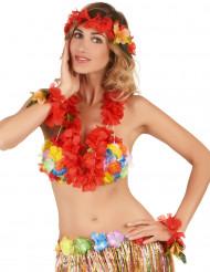 Set Hawaï rouge adulte