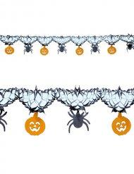 Guirlande araignées et citrouilles Halloween 3 m