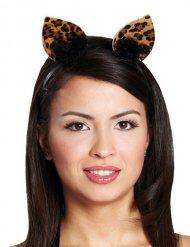 Serre-tête oreilles de léopard femme