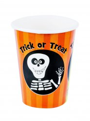 8 Gobelets en carton Trick or Treat 230 ml