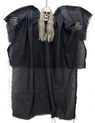 Décoration à suspendre ange noir de la mort lumineux 110 cm
