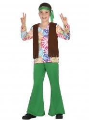 Déguisement de hippie garçon vert