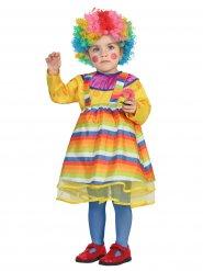 Déguisement clown multicolore bébé