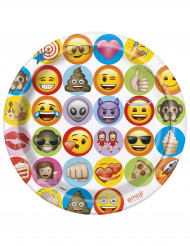 8 Assiettes en carton Emoji ™ 23 cm