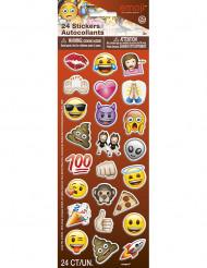 24 Stickers autocollants Emoji™