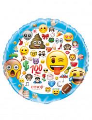 Ballon aluminium géant Emoji™ 86 cm
