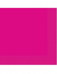 20 Serviettes en papier rose fuchsia 33 x 33 cm